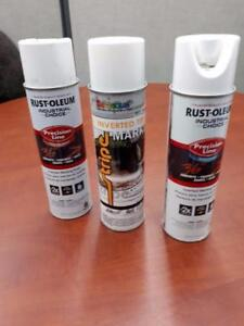 Peinture de marquage blanc  waterbase et SolventUn seul prix $1.99 ch  caisse de 12 uniquementQuantité limité