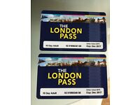 London Passes - 2x 10-day adult