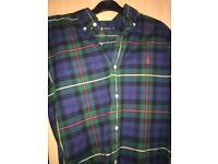 Ralph Lauren green tartan shirt.