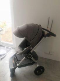 Stokke Scoot V2 pushchair in grey melange