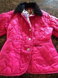 Girls BARBOUR coat XS 4/5