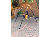 Folding toddler swing by Hedstrom. For indoor or outdoor use. Hardly used. Good condition
