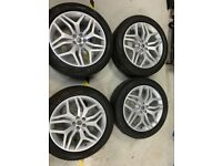 Brand new wheels and Pirelli scorpion tyres size 225 /50/20 to fit a Range Rover evoke hse sport