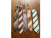 Selection of vintage / retro ties