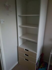 Shelf unit plus drawers - storage combination