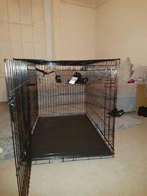 XL Black Single Door Dog Crate (2 Weeks old - not used!!)