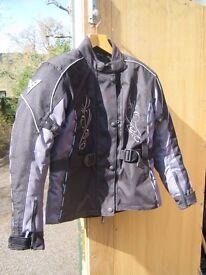 Brand New Ladies Neowell Heroin Motor Bike Jacket Size M