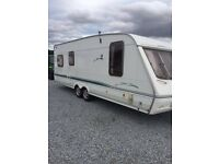 swift twin axle 6 berth touring caravan
