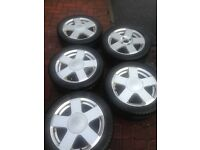 Set of five ford alloys