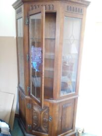 Old charm Display unit light Oak