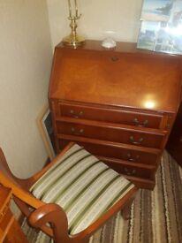 Writing Bureau desk and Chair