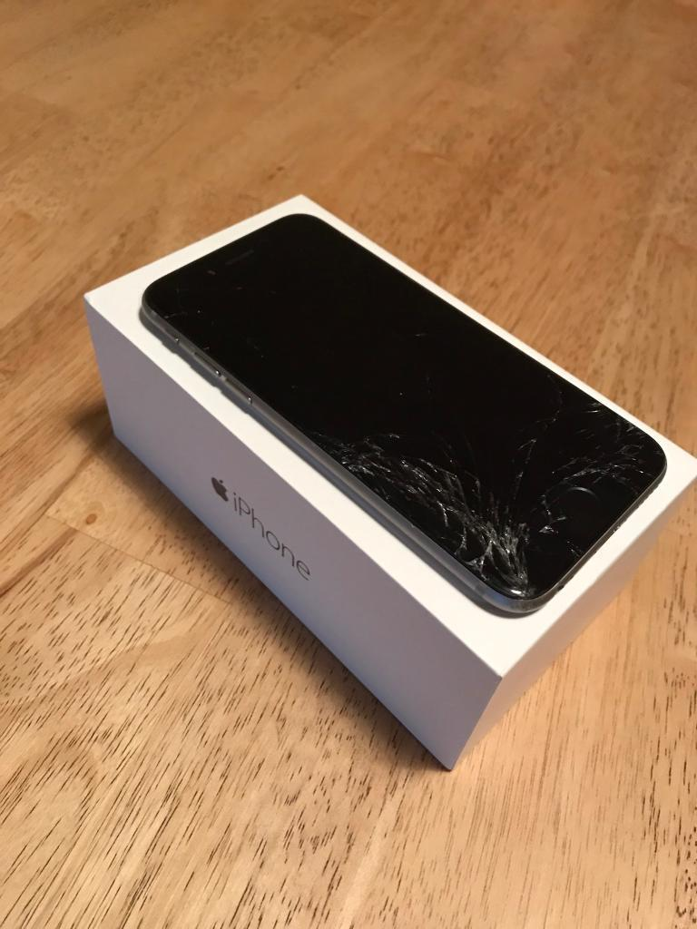 iPhone 6 16GB only140in Mattishall, NorfolkGumtree - iPhone 6 16GB space grey in colour. Full working order. Cracked screen needs replacing hence low price. Plug included.Only £140