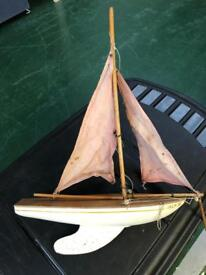 Boat with metal fin