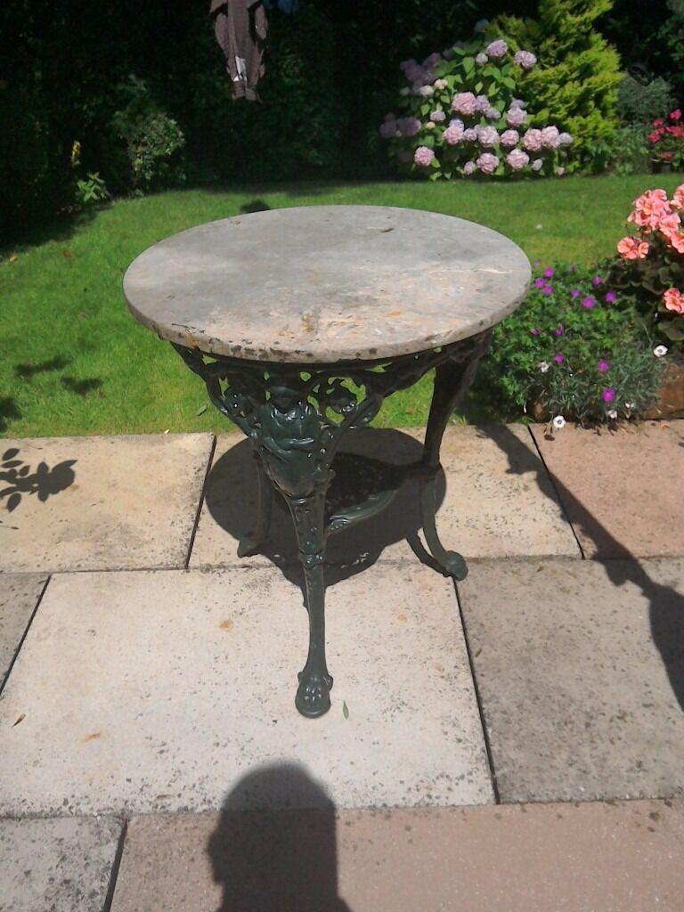 BRITANNIA. TABLE. With stone top