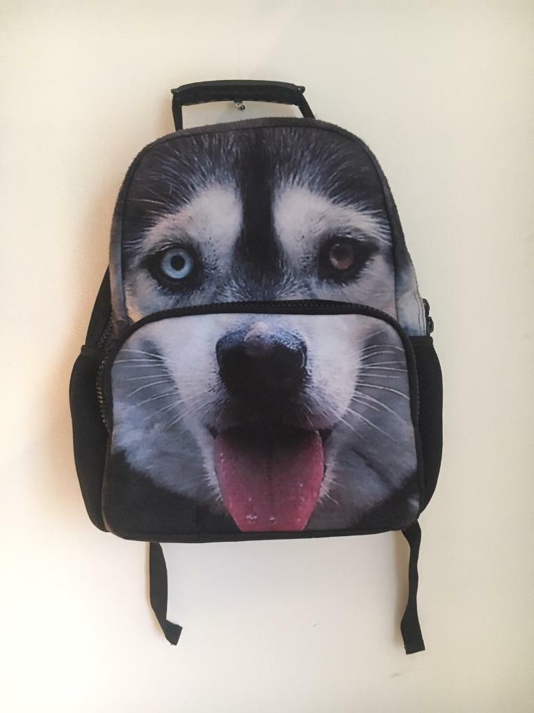 Husky face backpack