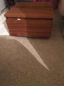 Wooded bedside table