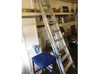 Large aluminium step ladders