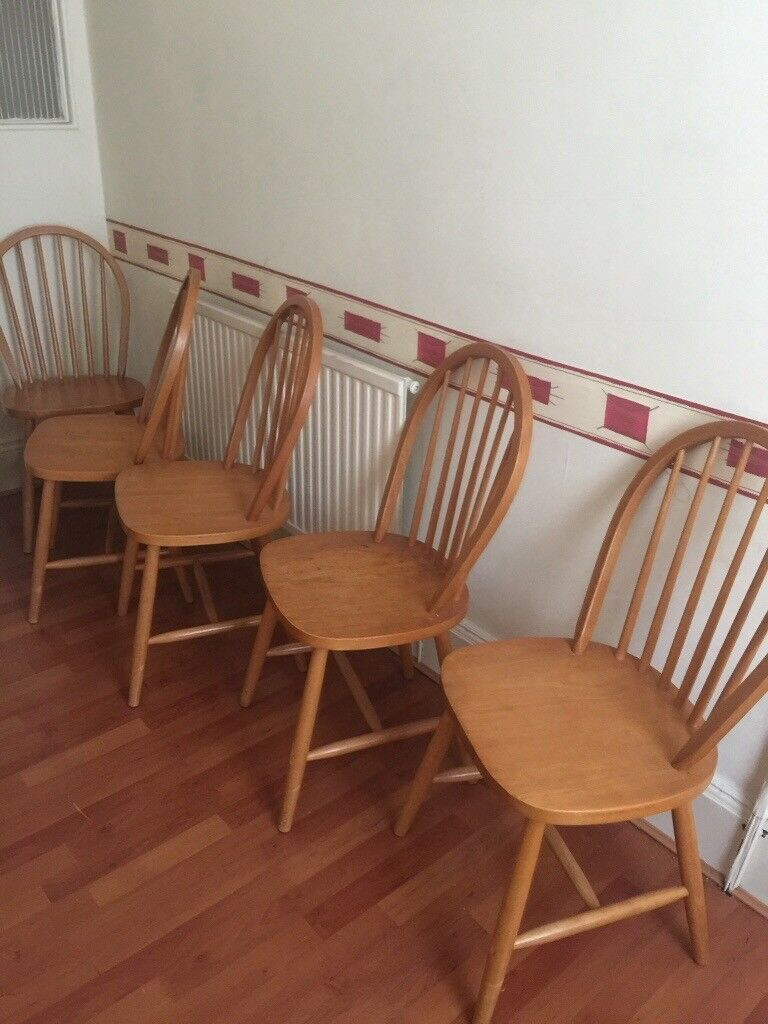 5 Wooden Kitchen Chairs Can Be Used In Dining Room Or Kitchen In Rogerstone Newport Gumtree