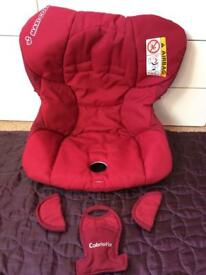 MAXI COSI CABRIOFIX - BABY CAR SEAT COVER (RED) & HEAD HUGGER & HARNESS PADS