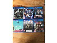 Various PlayStation 4 games