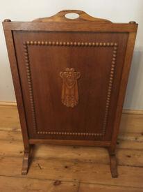 Vintage Wooden fire screen