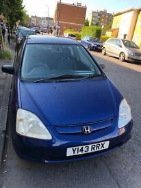 Honda Civic 1.6 Petrol 2001 Blue £599