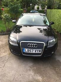 2008 Audi A3 1.9 tdi sport black 5doors 2008 57reg hatchback mot 12 August 2018 cruise control alloy