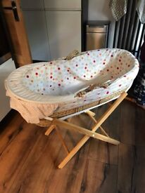 Moses basket with stand + BRAND NEW Mattress - Pickup from Bramhall / Stockport