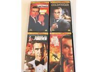 James Bond VHS tapes