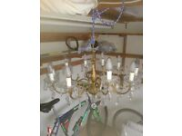 Antique Pair of Chandeliers