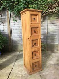 Pine cabinet Solid Mexican pine (not corona)