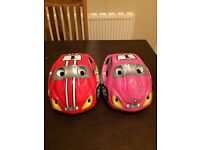 2 x children's bicycle helmets size 48-52 cms
