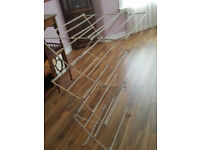 Two airers for drying clothing from smoke free pet free home for quick sale---house clearance