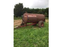 Rapid 1850 gallon slurry tanker / water bowser