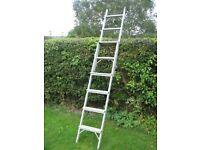 Extending aluminium step-ladder