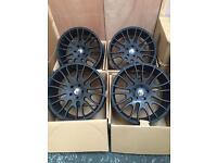 22'' Inch V Spoke MATT BLACK Alloy Wheels Alloys Rims fits AUDI Q7 / Porsche Cayenne - Panamera