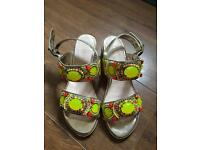 Woman Summer Sandals With Beads Low Heels Size 5 From TK Max