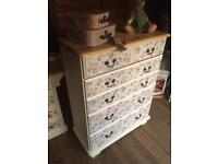 Vintage Farmhouse Chest of Drawers Solid Pine