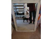 Shabby chic upcycled mirror