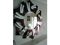 Large purple and silver venetian wall mirror brand new