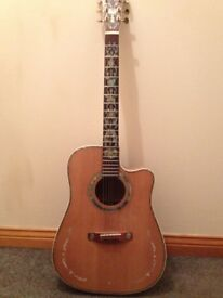 Acoustic Guitar Featuring lovely inlays