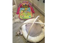 Baby musical play mat and soft baby gym