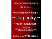 Painting&decorating/Carpentry/Floor Installation