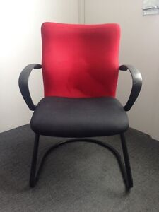 Ergonomic Italian Office Chair with Red and Black Upholstery Beaconsfield Inner Sydney Preview