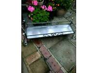 Planter/plant stand hand crafted from stainless steel