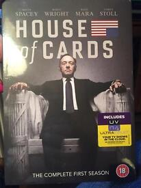 House of Cards Complete First Season DVD's