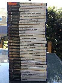 Bundle of PlayStation 2 games