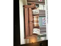 Nubuck sofa complete with cushions, excellent condition under 1 year old - no pets