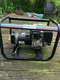 Clarke genarator .arganout water pump.fox petrol self propelled mower