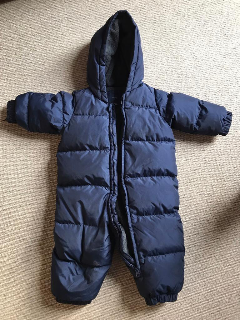All in one puffa suit 12-18 mth
